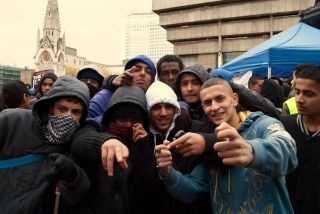 Youths at the UAF/Unity demonstration